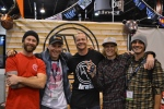 Matt Piercey and the Aratik Crew with Nev Lampwood from Snowboard Addiction with the Geeks of Shred SIA 2013