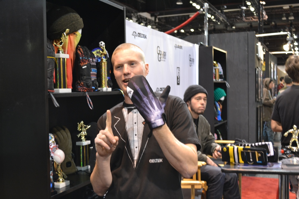 Bjorn Leines showing of Celtek Gloves